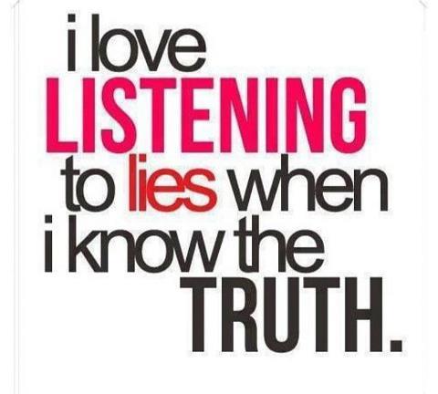 love listening lies truth